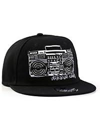 Underground Kulture Boombox Stereo Hip Hop Schwarz Snapback Baseballkappe (Black)