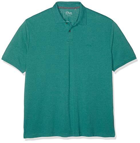 s.Oliver Big Size Herren 15.902.35.6581 Poloshirt, Türkis (Pale Turquoise Melange 66w0), XXXX-Large (Herstellergröße: 4XL) 15