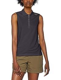 CMP Mujer Polo Camiseta, todo el año, mujer, color Antracite-Salvia, tamaño extra-small