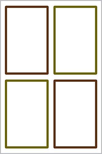 Avery 62002 Rectángulo Blanco 16pieza(s) - Etiqueta autoadhesiva (Blanco, Rectángulo, Poliéster, 47,5 mm, 73 mm, 16 pieza(s))