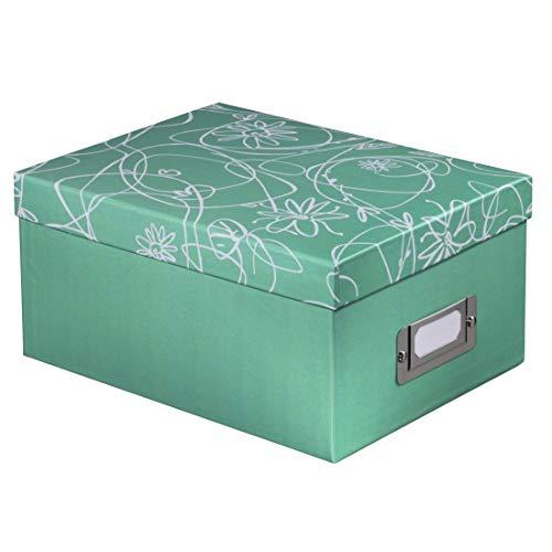 Deko-Geschenkbox, für 700 Fotos, Format 10 x 15 cm, Mint
