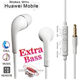 Nabster Huawei Honor View 10, Huawei View10, Huawei Honor View Ten In-Ear Headphones Earphone Like Headsets, Calling, Music, 3.5mm Jack, Mic, Lower Pice Tangle Free Bass Boost Dolby Sound: Multicolor