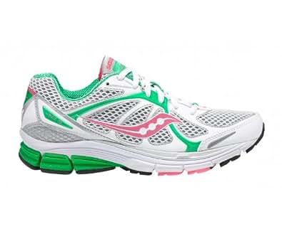 SAUCONY Ladies Jazz 16 Running Shoes, White/Pink/Green, UK5