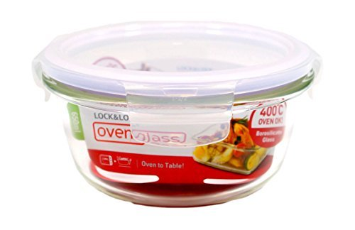 Boroseal 2.7 Cup Heat Resistant Round Glass Container by LockandLock