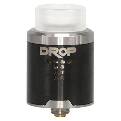 DigiFlavor Drop RDA Clearomizer, Durchmesser 24 mm, Squonk Pin, Dripper, Selbstwickler, Riccardo Verdampfer für e-Zigarette, schwarz - Post Cap Kit