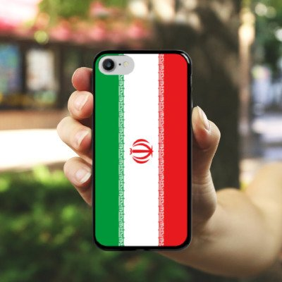 Apple iPhone X Silikon Hülle Case Schutzhülle Iran Flagge Fußball Hard Case schwarz