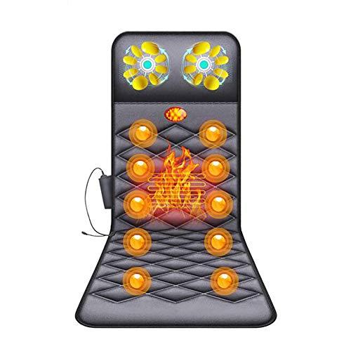 10 Motor-massage-matte (D&F Elektrische Massagematte,10 Motoren 16 Massageköpfe Multifunktions Ganzkörpermassage Matte zusammenklappbar Bed Massage relieves Pain)