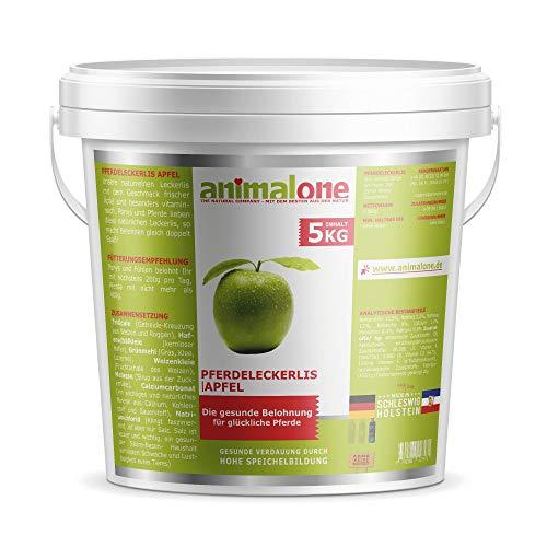 animalone - PFERDELECKERLIS Apfel 5 KG Eimer - das gesunde Leckerli für Ponys und Pferde