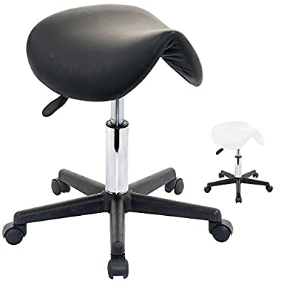 Vivo© Perfect Massage Saddle Stool Home Salon Nail Bar Manicure Gas Lift Swivel Chair Wheels Tattoo - low-cost UK light shop.