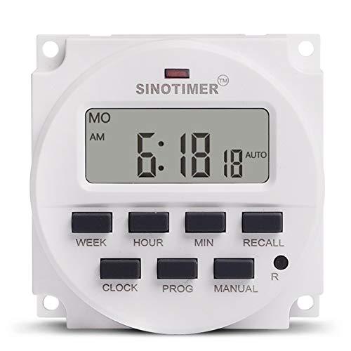SINOTIMER TM618N-4 12V programmierbarer Zeitschalter mit Countdown-Funktion