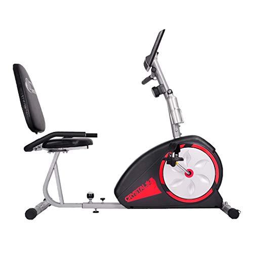 JCX Liegerad Heimtrainer, Elektromagnetischer Widerstand Heimtrainer für Senioren Untere Extremitäten Physiotherapie Rehabilitation Fitness-Zyklus, mit Herzfrequenz-Test und rutschfestem Pedal