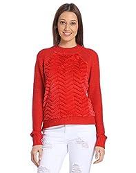 Vero Moda Womens Casual Sweaters (_5712833485095_Ribbon Red_X-Large_)