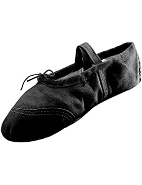 Panegy - Niñas Zapatos de Ballet Tutú Gimnasia Bailarinas Transpirables Suela de Pieal Punta Reforzada - EU 30...
