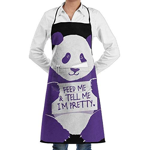 Drempad Schürzen Feed Me and Tell Me I'm Pretty Panda Fashion Waterproof Durable Apron with Pockets for Women Men Chef