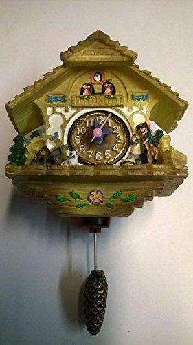 Miniatur Kuckucksuhr Uhrenträger Schwarzwald Uhr Geschenk Souvenir Digitaluhr