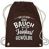 Sprüche - Das ist kein dicker Bauch - Unisize - Braun - WM110 - Turnbeutel & Gym Bag