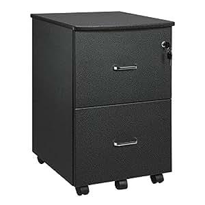 songmics rollcontainer mit schloss und schubladen abschlie barer aktenschrank mit rollen und. Black Bedroom Furniture Sets. Home Design Ideas