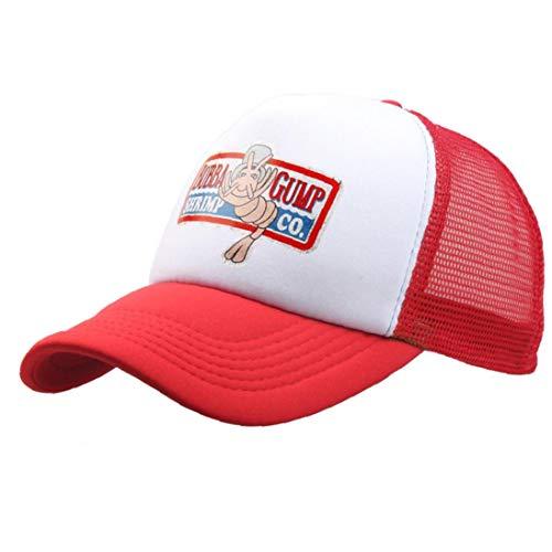 Unisex Sommer Hysteresen-Hut Forest Gump Shrimp-Hut Kult Baseball Trucker Cap Cosplay Halloween-trucker Hut