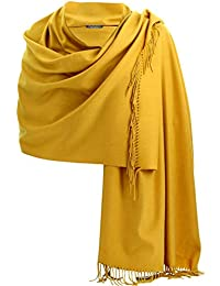 Charleselie94® - Etole châle écharpe cachemire laine moutarde BERTRAND JAUNE 927ebb99b938