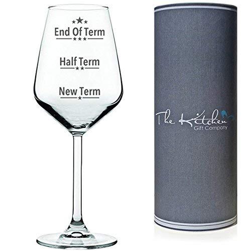 Geschenkfür Lehrer –Schuljahresende Weinglas für Lehrer rot/weiß Funny Wein Geschenk für einen Lehrer in einer Geschenkröhre