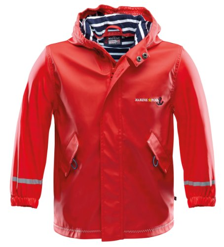 Marinepool Kinder Jacke Drifter Rainjacket Kids Red 128/134