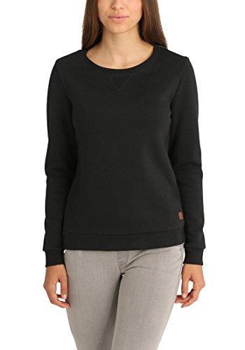 DESIRES Vicky O-Neck Damen Sweatshirt Pullover Sweater Mit Rundhalsausschnitt Und Fleece-Innenseite, Größe:S, Farbe:Black (9000)
