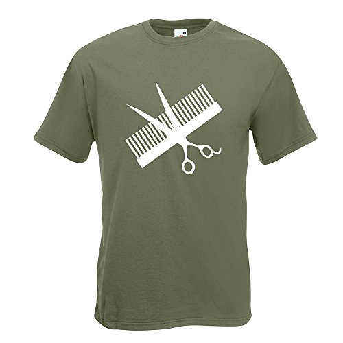 KIWISTAR - Kamm & Schere T-Shirt in 15 verschiedenen Farben - Herren  Funshirt bedruckt