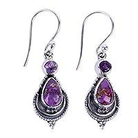 Women Vintage Earrings,Minshao Moonstone Gemstone Dangle Hook Stud Earring Jewelry Gift