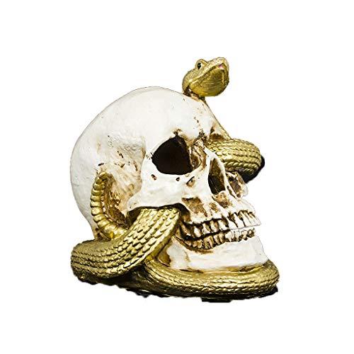 Arm Kostüm Snake - Crawling Halloween Dekoration Requisiten, Pan Snake Head Ornamente Mit Lichtern Augen Batteriebetriebene Horror Party Home Bar Table Decor (Color : White)