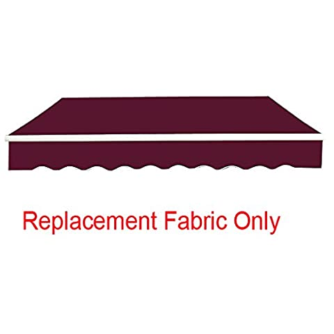 Greenbay 3.5x2.5m Garden Awning Replacement Fabric Top Cover Front Frill Wine Red