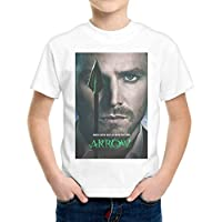 T-Shirt Bambino Ragazzo Arrow Freccia Verde Serie Tv Locandina