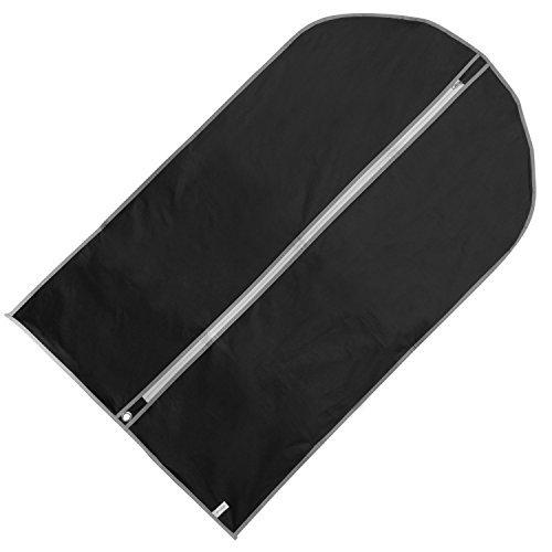 Hangerworld - Funda Protectora para Ropa Negro, Impermeable - 6 Unidades