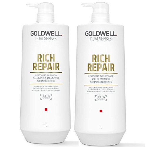 Goldwell Dualsenses Rich Repair Restoring Shampoo 1000 ml und Conditioner 1000 ml -