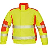 CERVA Trila Warnschutz-Pilotenjacke Winterjacke Arbeitsjacke Gelb/Orange mit Reflexstreifen Größe S