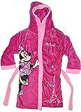 Disney Minnie Maus Mädchen Bademantel mit Kapuze (128, Violett)