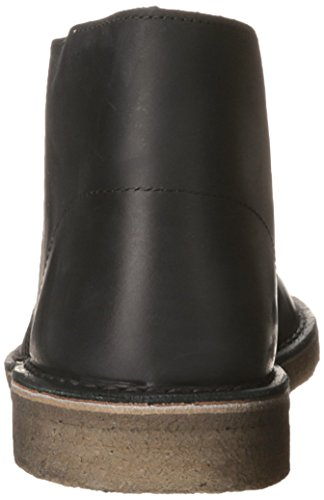 Clarks Originals Men's Black Beeswax Leather Desert Boot 11.5 D(M) US Black Beeswax Leather