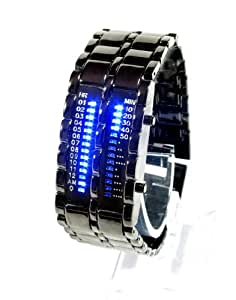 Military Style Blue LED Herrenuhr - Futuristic Super Cool Herren Armbanduhr,Ideal Wristwatch For Men