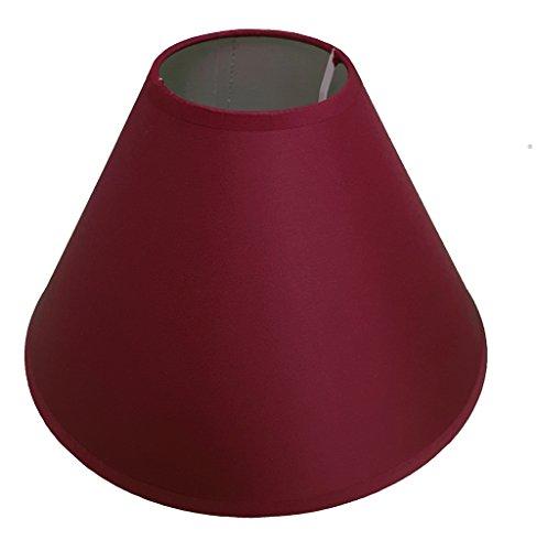 Lampenschirm für Decken- und Tischleuchten, 30 cm, erhältlich in Aubergine / Schwarz / Cremefarben / Hellblau / Hellgrün / Zartlila / Limettengrün / Marineblau / Pfirsichfarben / Primelfarben / Rot / Weiß / Weinrot Wein