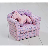 Other Kids Unicorn Armchair Pink Purple Seating Chair Pony