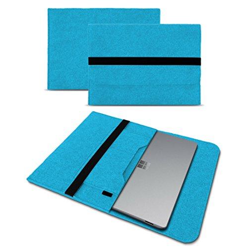 Microsoft Surface Laptop 13,5 Sleeve Cover Hülle Tasche Notebook Filz Case Schutzhülle, Farben:Türkis