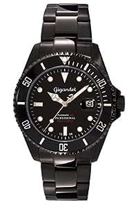 "Gigandet Herren Automatik-Armbanduhr ""Sea Ground"" Analog Edelstahlarmband Schwarz G2-003"