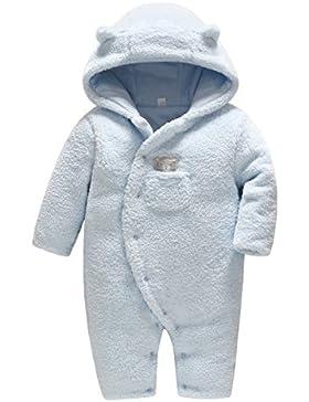 Vine Baby Schneeanzüge Winter Fleece Overall mit Kapuze Mädchen Jungen Strampler Jumpsuit