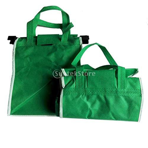 Bolsas Reutilizables Plegables 1pc Supermercado Carrito De La Compra De Agarre Con Los Clips
