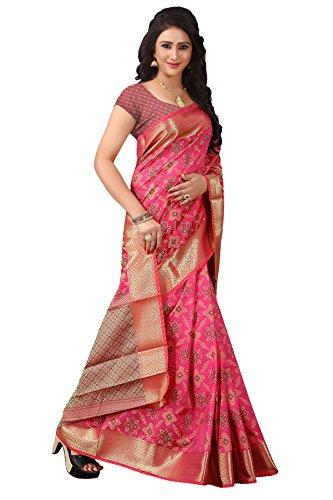 Urban India Party wear Pink Patola Silk Saree - SE00141001F