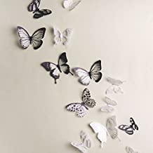 goodding 18pcs DIY 3d adhesivo decorativo pegatinas decorativas para pared, diseño de mariposas, mariposas de pvc