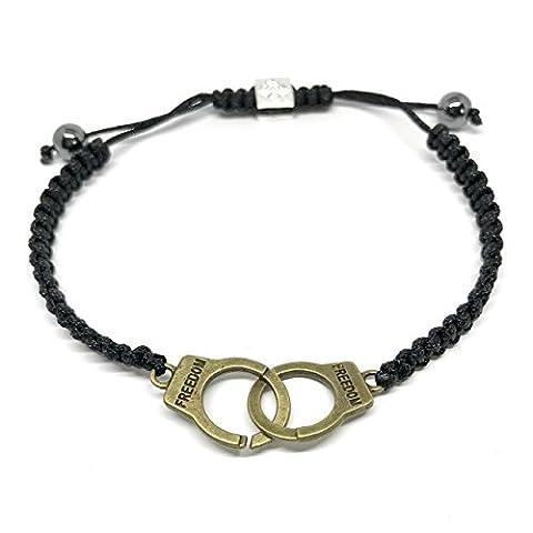 GOOD.designs Freedom-bracelet Jewelry, Pendentif menottes, bracelet d'amitié (or)