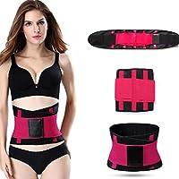 HXZB Hombres Y Mujeres Cinturón Deportivo Postparto Abdomen En Mujeres Cinturón Corsé,Rosered,L