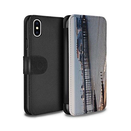 Stuff4 Coque/Etui/Housse Cuir PU Case/Cover pour Apple iPhone X/10 / Plage Design / Côte de la Colombie Collection Jetée
