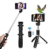 Oladwolf Bluetooth Selfie Stick Stativ mit Fernbedienung, 2 in 1 Ausziehbaren Handy Stativ Wireless Einbeinstativ mit 360 �Drehung, Selfiestick F�r iPhone 6, 7, 8, X, Android, Samsung medium image