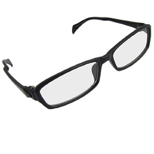 Schwarz Vollrand Rechteck Objektiv Plano Brillen für Damen